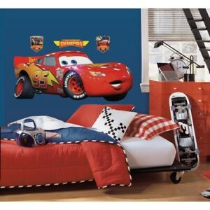 New-GIANT-LIGHTNING-MCQUEEN-WALL-DECAL-Disney-Cars-Movie-Stickers-Racing-Decor