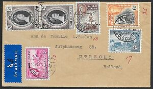 Gold Coast covers 1953 Airmailcover AXIM to Utrecht