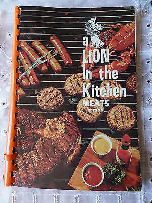 1965 Tuscaloosa AL Lions Club A Lion in the Kitchen Meats Edition Fish Game etc