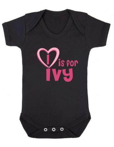 MI è per Edera-Ivy body Baby//Bambino Gilet//Pagliaccetto