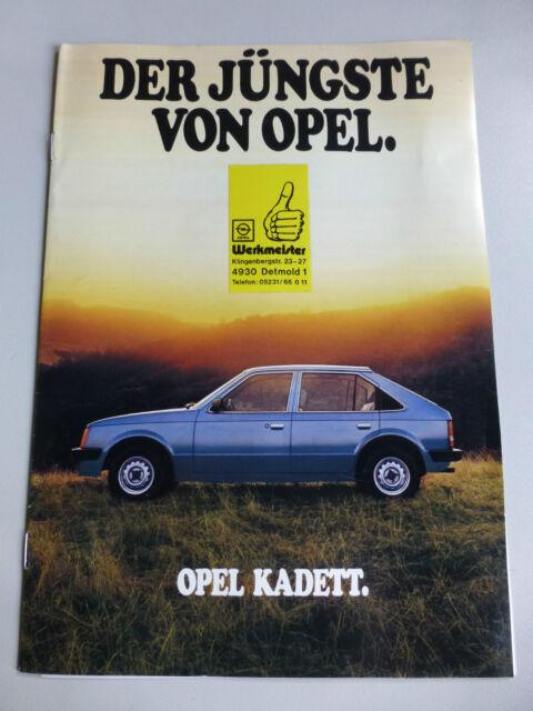 Opel Autoprospekt 1979 Prospekt Kadett + Caravan und techn. Daten