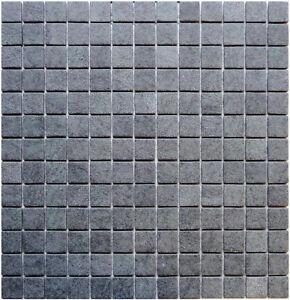 Glasmosaik 4mm Gc Natur Basalt Black Rutschfest Bad Sanitar Glas