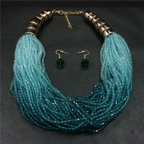 For Jewlery Beads Boho Jewelry Set Necklace+Earring Earrings Necklaces
