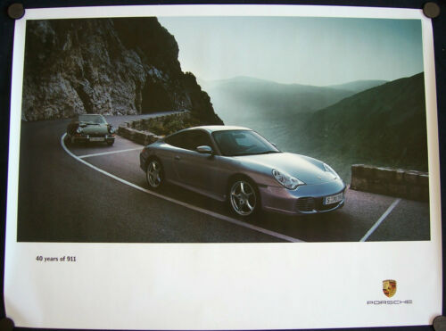 PORSCHE OFFICIAL 901 /& 911 996 40th ANNIVERSARY EDITION SHOWROOM POSTER 2004