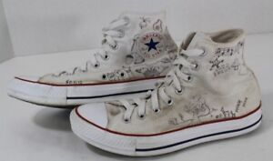 d66d3dc3fc4d Image is loading Custom-White-Converse-High-Tops-with-Drawings-Homemade-