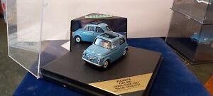 VITESSE-1-43-FIAT-500-OPEN-ROOF-1957-BLUE-CELESTE-NEUF-EN-BOITE