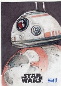 2017-Star-Wars-The-Last-Jedi-Sketch-Card-BB-8-by-Erik-Maell