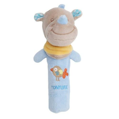 Newborn Infant Baby Rattle Toys Cute Animal Bell Plush Handbells Toy SH