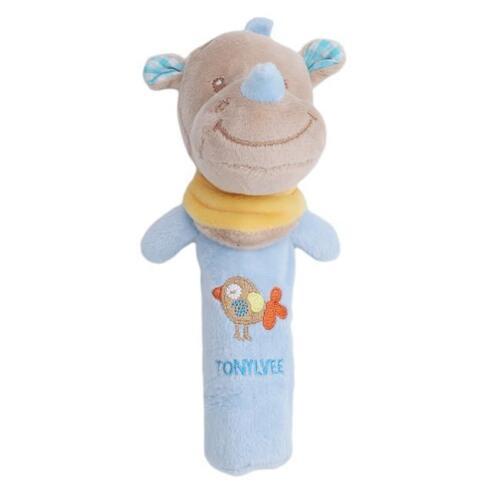 Newborn Infant Baby Rattle Toys Cute Animal Bell Plush Handbells Toy SH