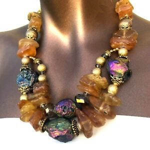 Gemstone-Amber-Necklace-Handmade-One-of-a-Kind-Designer-Statement-Piece-AM01