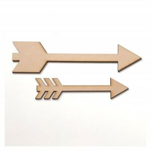 Details About Arrow Set Sign Mdf Shape Word Raw Wooden Chic Wall Art Country Funky Decor
