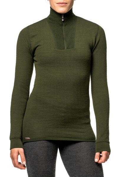 T-shirt manches longues Woolpower Zip Zip Zip Turtleneck 400 en mailles Ullfrotté verde c7180c