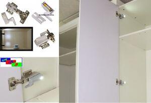 Illuminazione led per cerniera anta armadio compreso di batteria