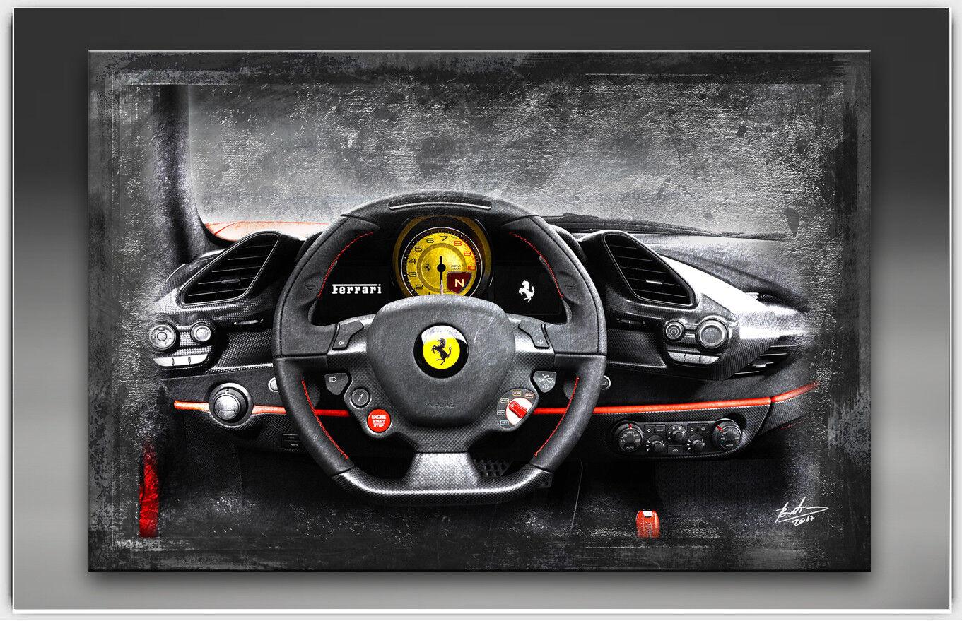 Toile Photos Ferrari tableau de bord de voiture de bord sport voiture DECO PEINTURES MURALES 1708 a f0f396