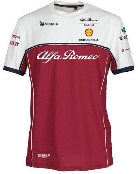 NEW 2019 ALFA ROMEO Racing F1 Team Tech T hemd Tee Kimi Raikkonen herren OFFICIAL