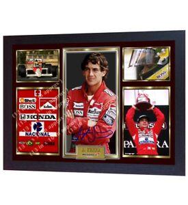 Ayrton-Senna-signed-autograph-photo-print-Formula-1-Champion-ayrton-senna-Framed