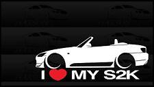 I Heart My S2000 Sticker Love Slammed Low JDM Convertible S2k Honda F20C Vert