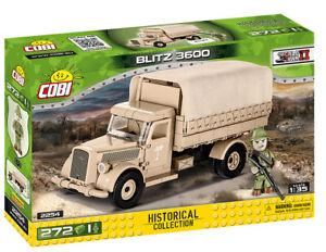Cobi 2254 (272pcs) 1:35 Scale German Opel Blitz 3600 Truck DAK with Figures WWII