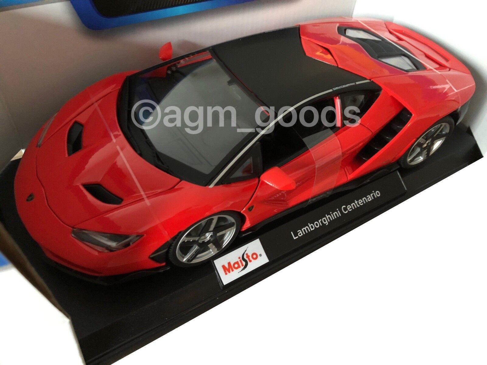 Maisto 1 18 Scale - - - Lamborghini Centenario - Red - Diecast Model Car a06414