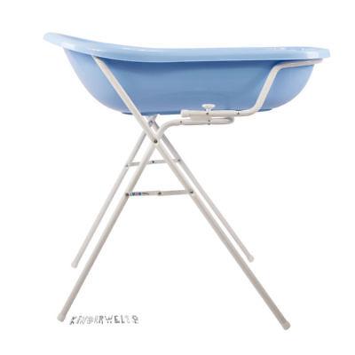 Badewannenständer Babywanne Baby Badewanne blau XXL 100 cm Ständer