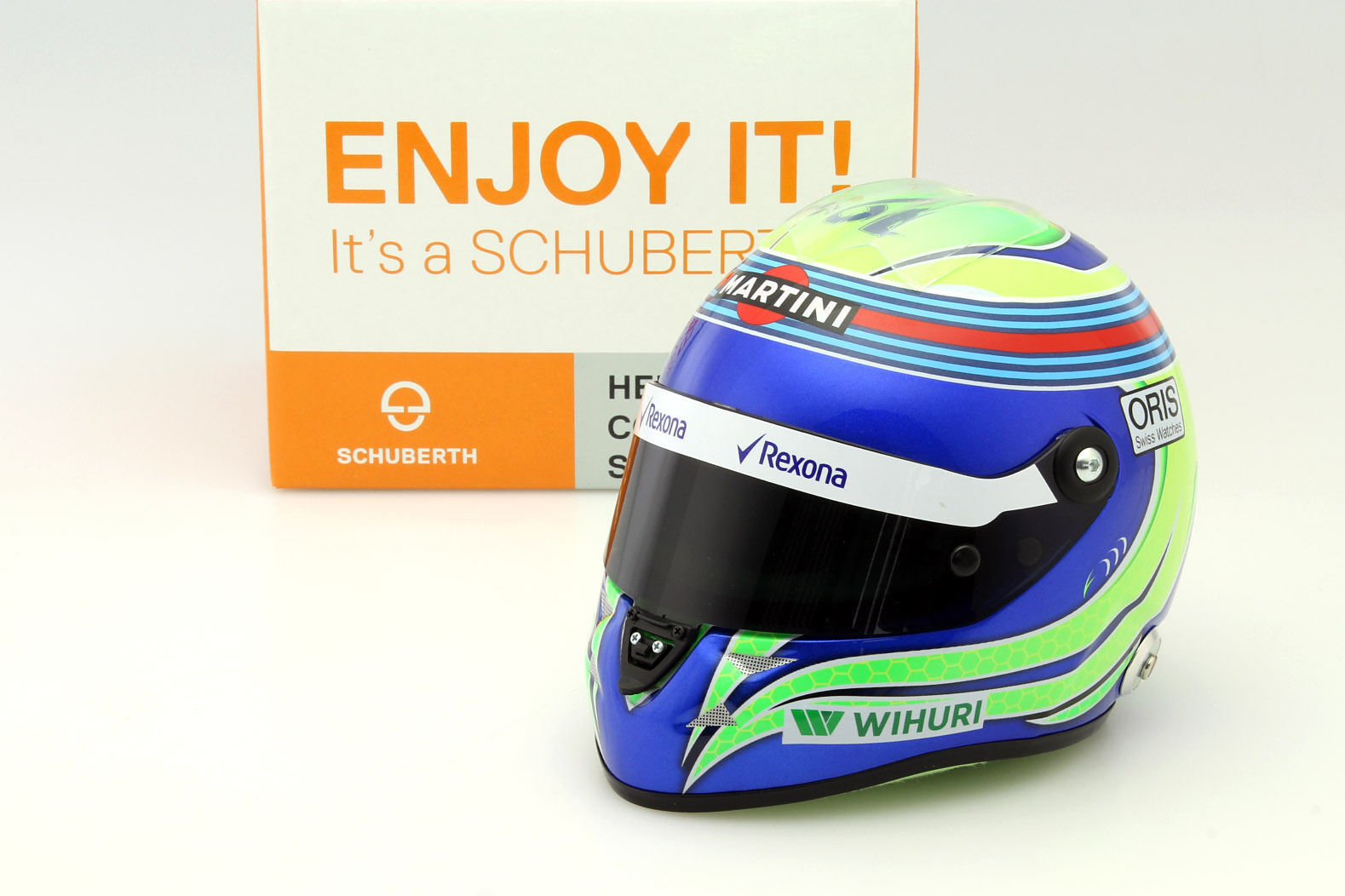 1:2 Schuberth Williams helmet Martini Racing GP Massa 2016