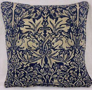 William Morris Brer Conejo 205 Índigo & Vitela Cushion Covers muchos Tamaños  </span>