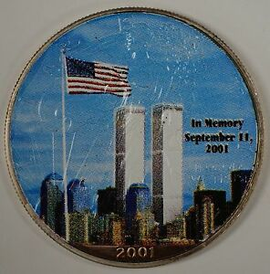 2001 9 11 September 11th Memory American Fine Silver Eagle