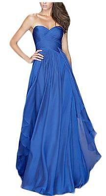 NEW~Women X-Small~A Line~Blue STRAPLESS