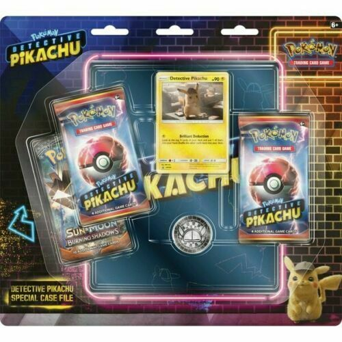 Pokemon DETECTIVE PIKACHU SPECIAL CASE FILE (3 Boosters + Binder + Coin)