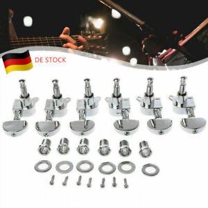 6 Tlg Mechaniken Gitarren Locking Tuners Stimmwirbel Tasten Links Rechts 3R3L
