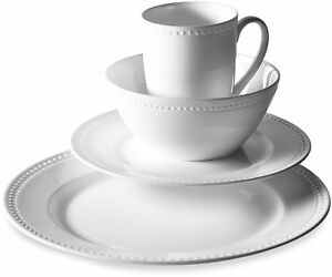 Details about 16-Pc Kitchen Dining Bone China Microwave-Safe Dinnerware  Plates Bowls Mugs Set