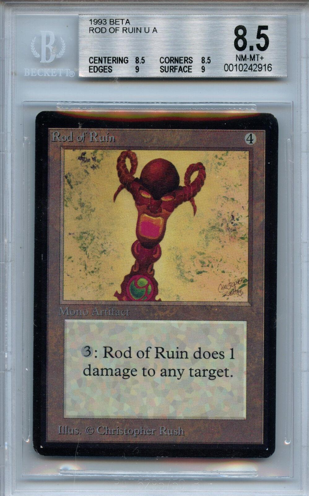 MTG Beta Rod of of of Ruin BGS 8.5 NM-MT+ Card Magic WOTC 2916 e52d05