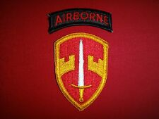 2 US Military Patches: AIRBORNE + Military Assistance Command In Vietnam MACV