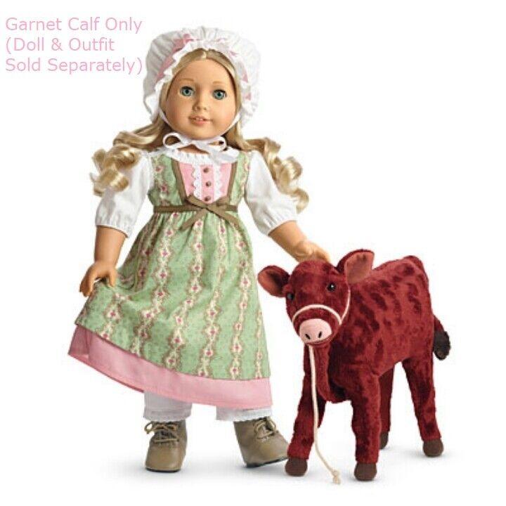 Neuer American Girl Puppe Caroline Kalb 'Granat' Haustier Kuh mit /