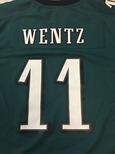7098e4ff Details about CARSON WENTZ #11 PHILADELPHIA EAGLES YOUTH GREEN NIKE NFL  JERSEY FREE SHIPPING