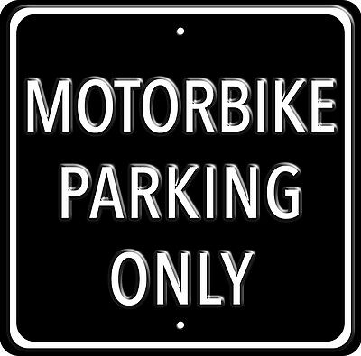 "Affiche de Métal Lourd ""Motorbike Parking Only"" (rh)"