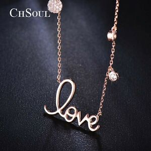 Trendy-LOVE-Pendant-Crystal-CZ-Chain-Fashion-Women-Lady-Cocktail-Party-Necklace