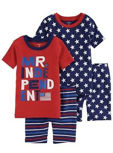 c98094866 4 Piece Carters Mr. Independent Cotton Pajama PJ Set Fourth Of July ...