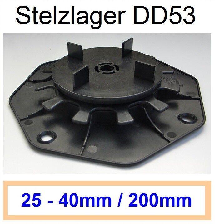 84 Stelzlager 25-40mm, Plattenlager Feinsteinzeug, Fuge 3mm, Steghöhe15mm
