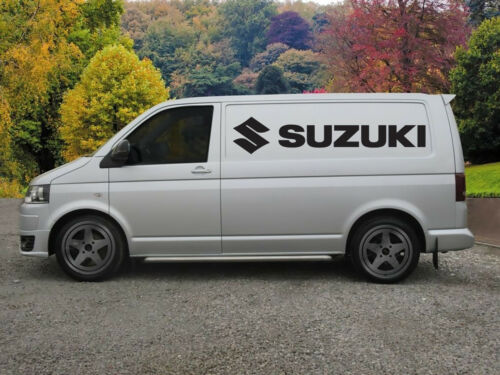 Huge Suzuki Motorcycle Racing Van Vinyl Sticker Decal x 2