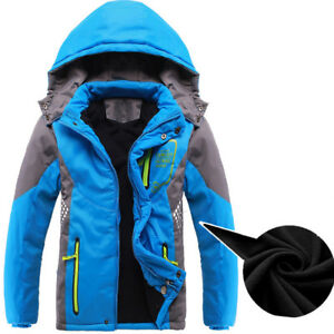 fdceb796a2e6 Kid Children Boy Hoodies Jacket Winter Waterproof Windproof Warm ...