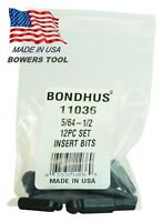 Bondhus 11036 Set Of 12 Balldriver« Insert Bits, Sizes 5/64 1/2 Inch (11611036) Tools and Accessories