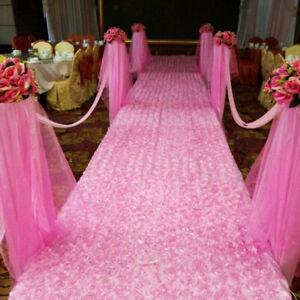 Rose-Flower-Carpet-Wedding-Rug-Aisle-Floor-Decor-Anniversary-Festival-Pink