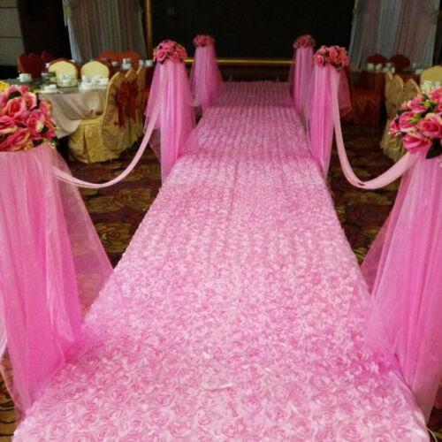 Rose Flower Carpet Wedding Rug Aisle Floor Decor Anniversary Festival Pink