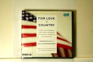 AUDIO-BOOK-on-CDs-FOR-LOVE-OF-COUNTRY-Howard-Schultz-Military-Acts-of-Valor-Iraq
