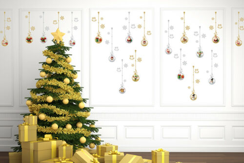 Mega Wall Sticker Bundle Gold and Silver Traditional Bauble Room Decorations