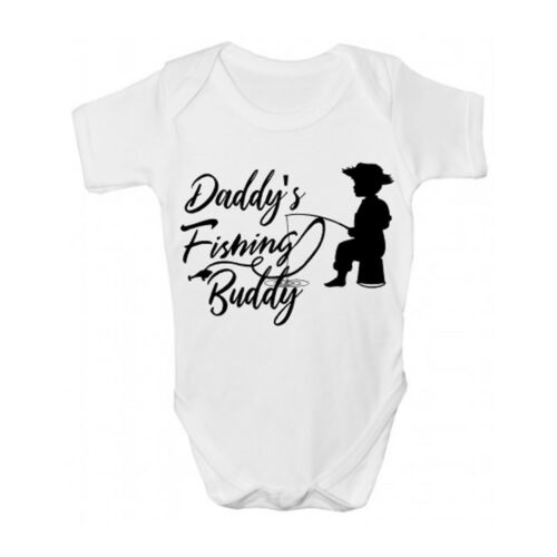 Daddy/'s Fishing Buddy Baby Grow//Sleepsuit-Pêche Vêtements Bébé