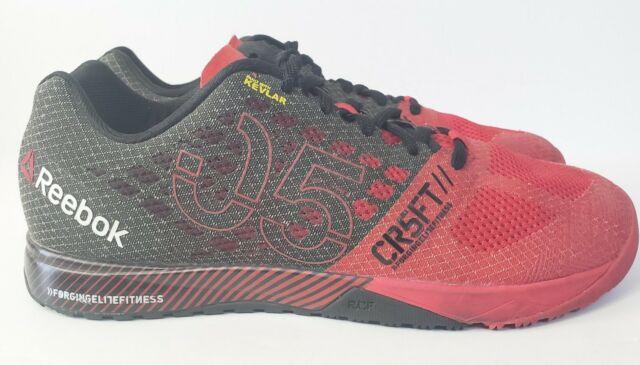 Reebok Crossfit Nano 5.0 Black/Red Cross Kevlar Training Shoes Mens Size 9.5