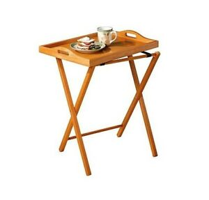 Image Is Loading Folding Table Tray For Snack TV Coffee Portable