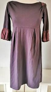 Toast-Women-039-s-Dress-Purple-Size-8-Cotton-Silk-Trim-VGC